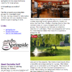 Cayuga County Group Tour Newsletter- Springside Inn