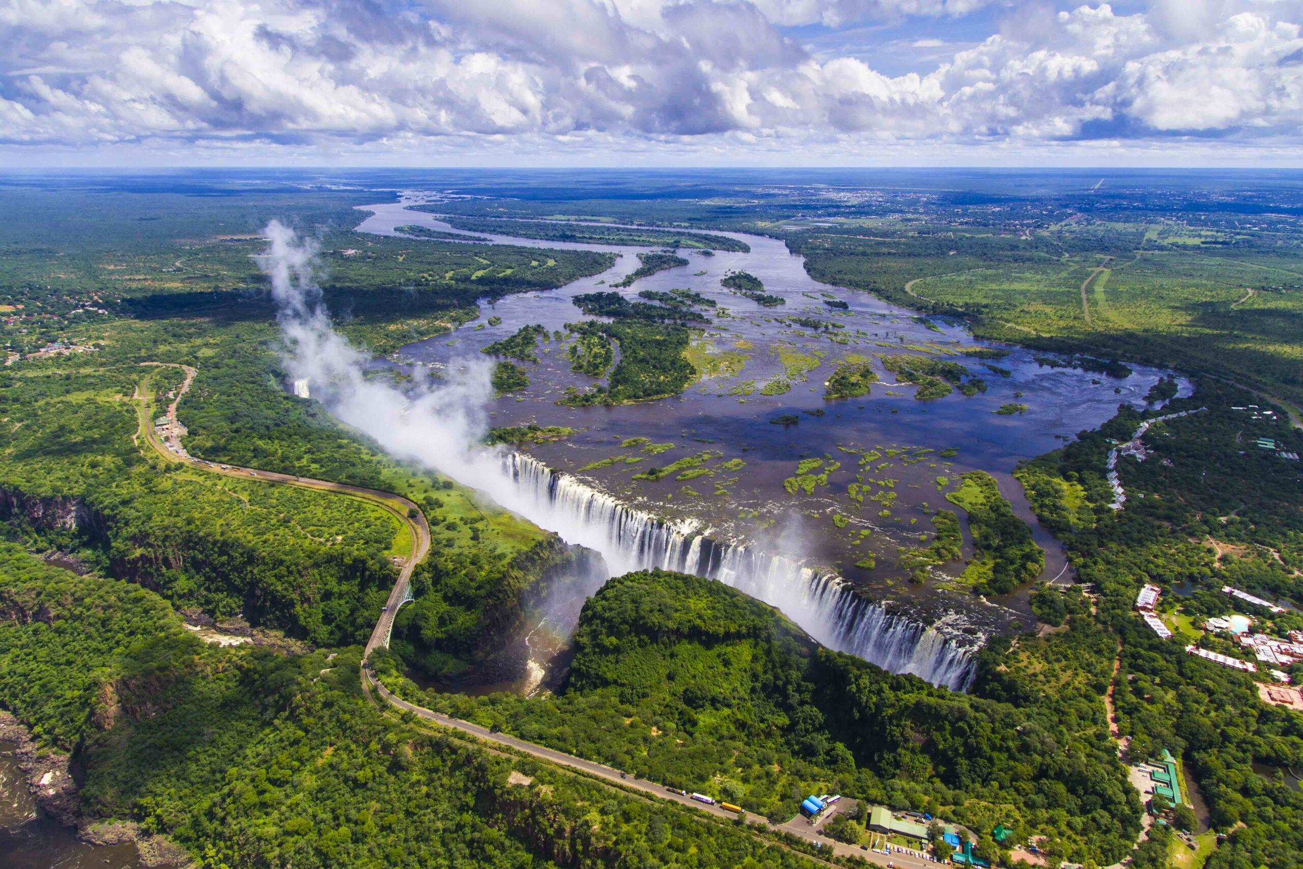 Victoria Falls, aerial view Photo Credit: The Victoria Falls Regional Tourism Association