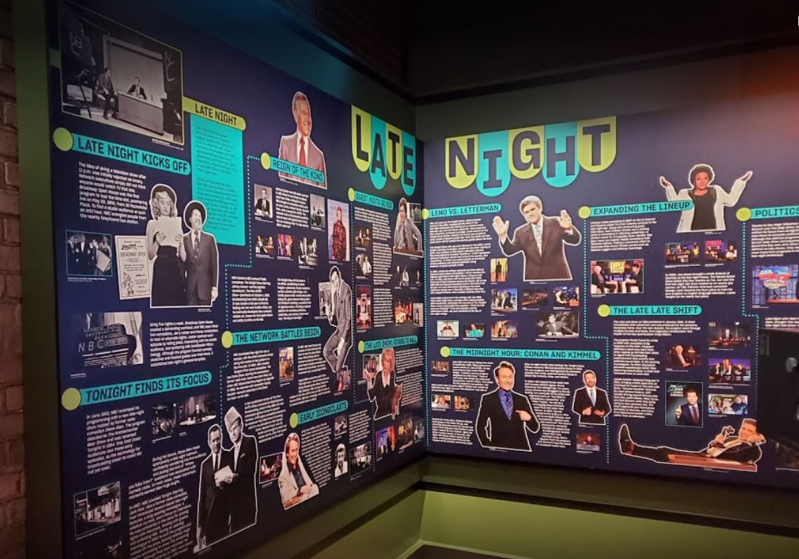 """National Comedy Center """"late night"""" display"""