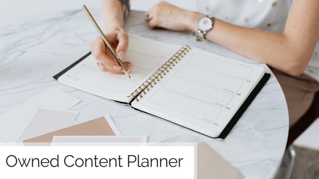Owned Content Planner